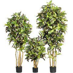 nearly natural SilkCrotonTrees