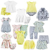 Baby Girl Carter's Lemon & Denim Little Mix & Match Collection