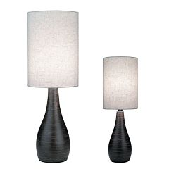 Quatro Brushed Table Lamps