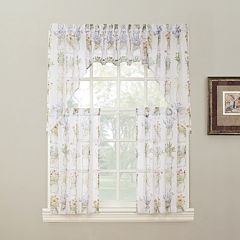 No918 Eves Garden Swag Tier Kitchen Window Curtains