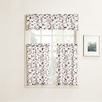 No918 Forest Friends Tier Kitchen Window Curtains