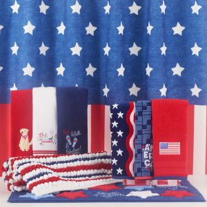 Americana Shower Curtain Collection
