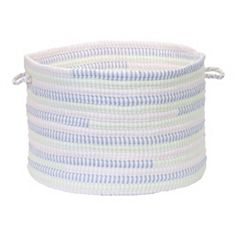 Colonial Mills Fabric Ticking Striped Utility Basket