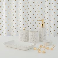 LC Lauren Conrad Metallic Dot Shower Curtain Collection