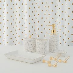 LC Lauren Conrad Metallic Dot Shower Curtain Collection