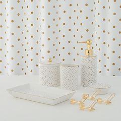 lauren conrad bathroom. LC Lauren Conrad Metallic Dot Shower Curtain Collection Curtains Bathroom  Bed Bath Kohl s