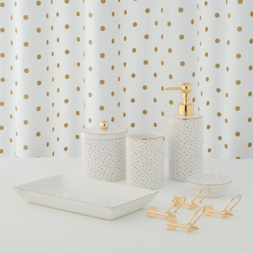 lauren conrad metallic dot shower curtain collection