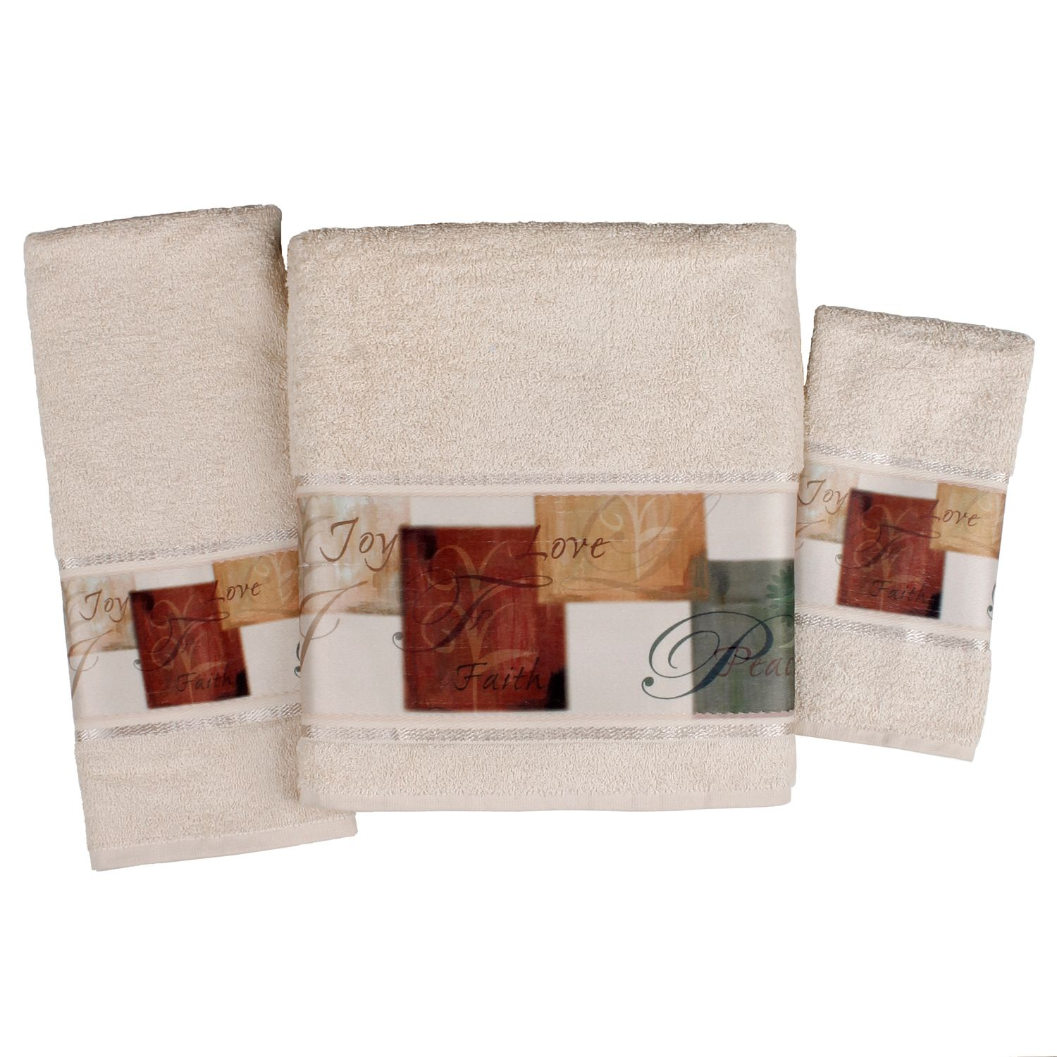 Saturday Knight, Ltd. Tranquility Bath Towel Collection