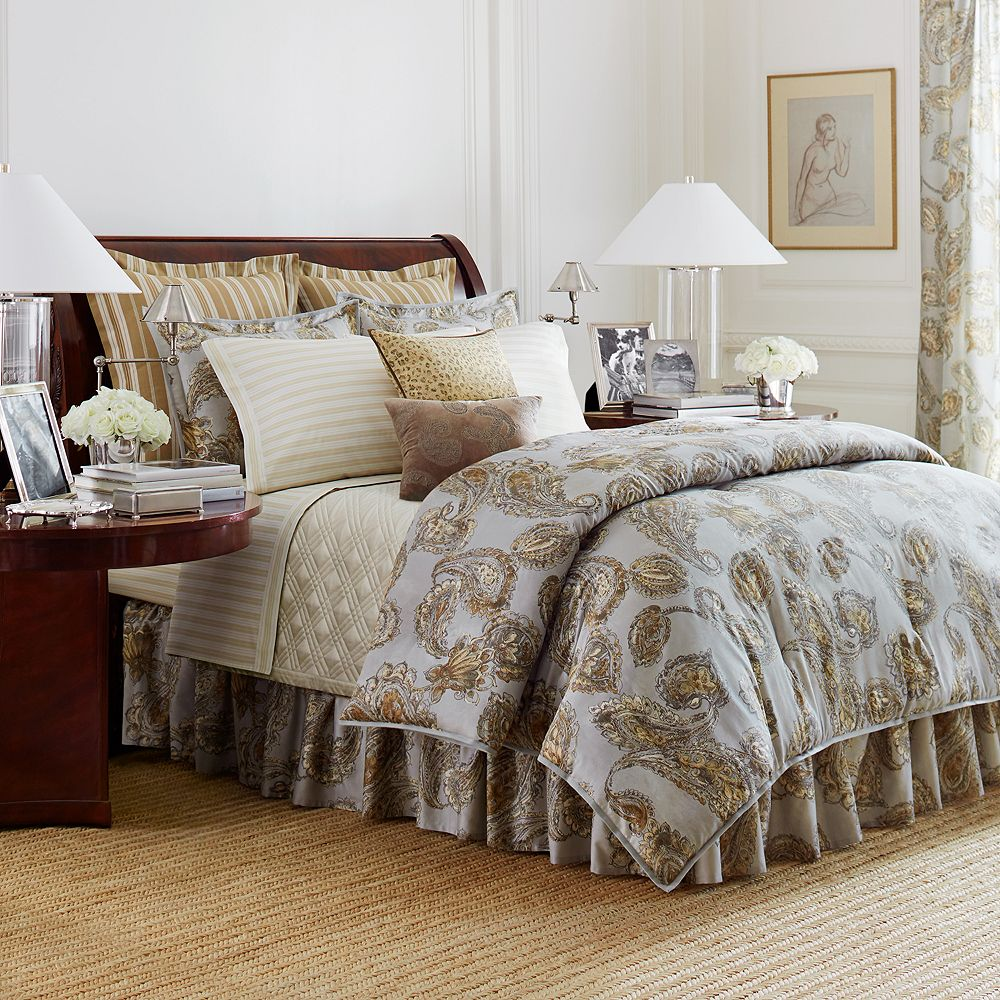 shams king plaid new comforter skirt pin roses set chaps tarten bed wainscott ralph lauren