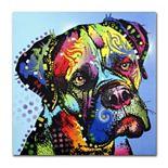 """Mastiff Warrior"" Dog Canvas Wall Art"