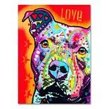 """""""Thoughtful Pitbull"""" Canvas Wall Art"""