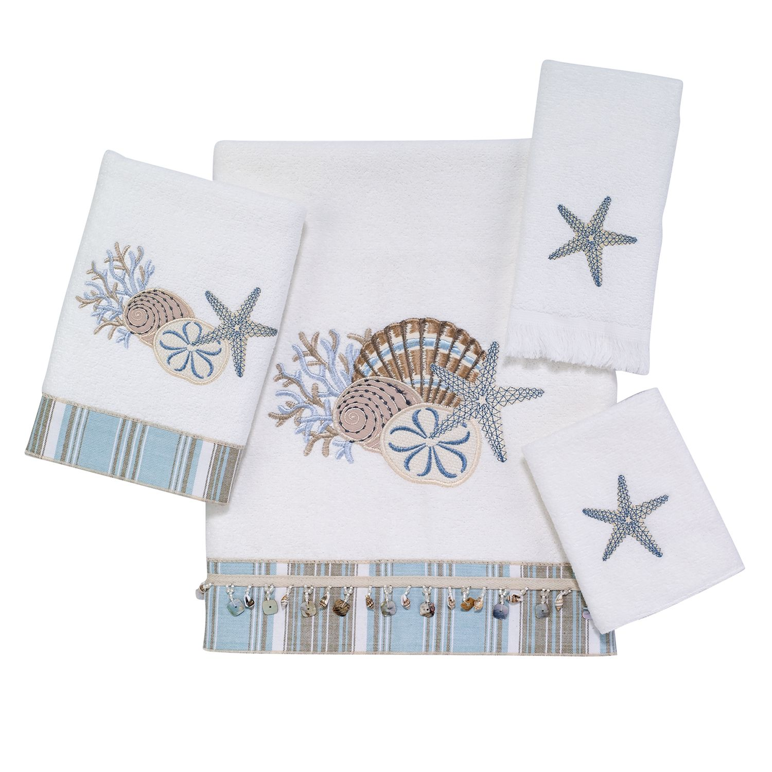 avanti by the sea bath towels - Fingertip Towels