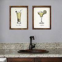Stratton Home Decor Cocktail Framed Wall Art Collection