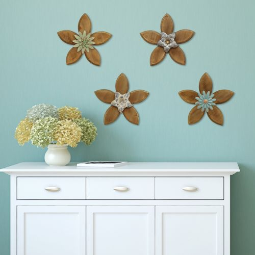 Stratton Home Decor Rustic Flower Wall Decor Collection