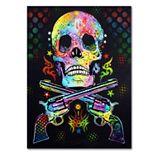 ''Skull & Guns'' Canvas Wall Art