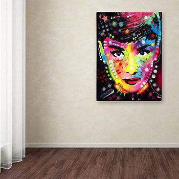 ''Audrey'' Canvas Wall Art