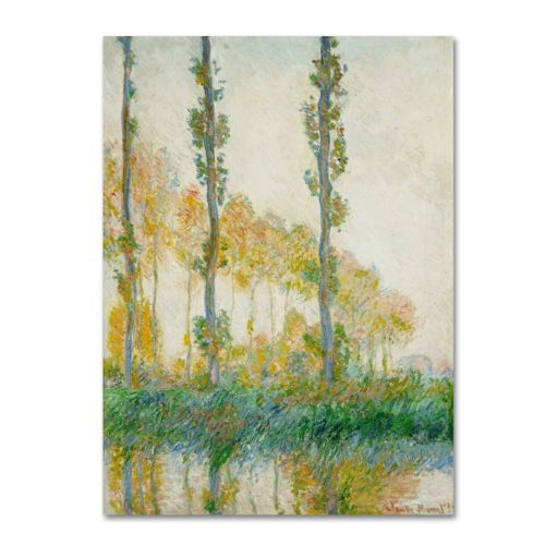 ''The Three Trees Autumn'' Canvas Wall Art by Claude Monet