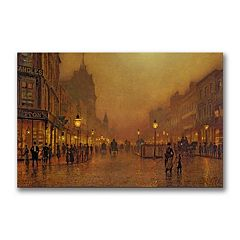 ''A Street at Night'' Canvas Wall Art