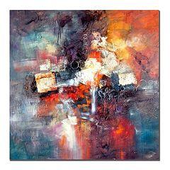 ''Cube Abstract III'' Canvas Wall Art