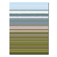 ''Sky Water Beach Grass'' Abstract Canvas Wall Art