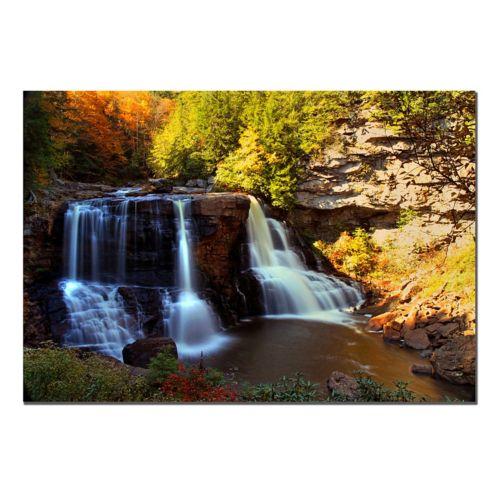 """Motion"" Waterfall Canvas Wall Art"