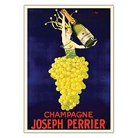 ''Champagne Joseph Perrier'' Canvas Wall Art