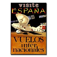 ''Visit Espana'' Canvas Wall Art