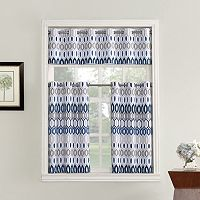 Top of the Window Vesper Light Filtering Tier Kitchen Window Curtains