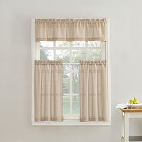 Top of the Window Monroe Light Filtering Tier Kitchen Window Curtains