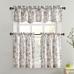 Top of the Window Signy Light Filtering Tier Kitchen Window Curtains