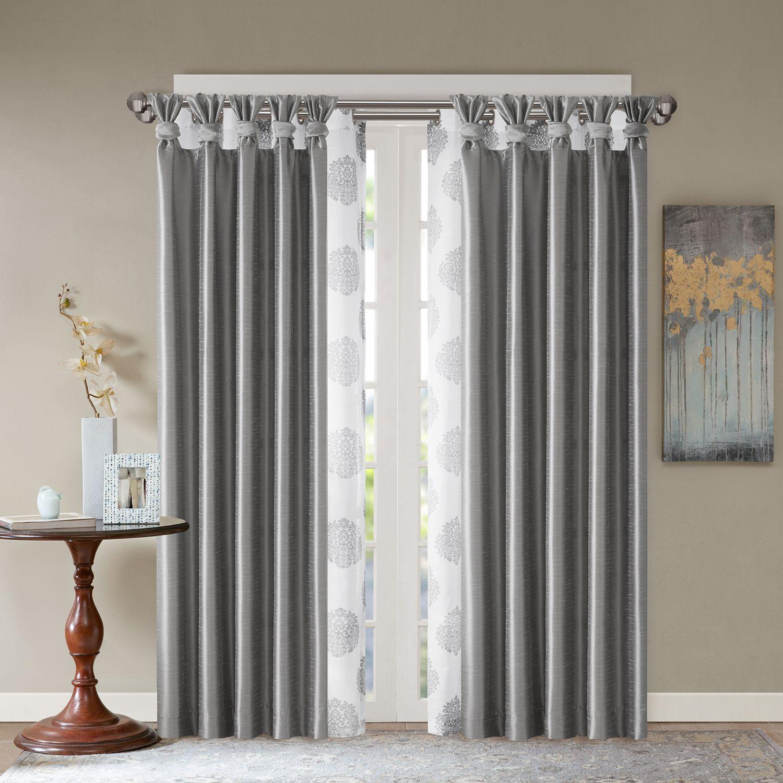 madison park indra u0026 daniele layered window treatment collection