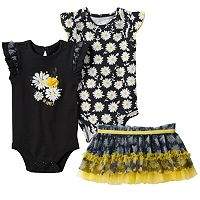 Baby Girl Baby Starters Black & Yellow Daisy Mix & Match Outfits