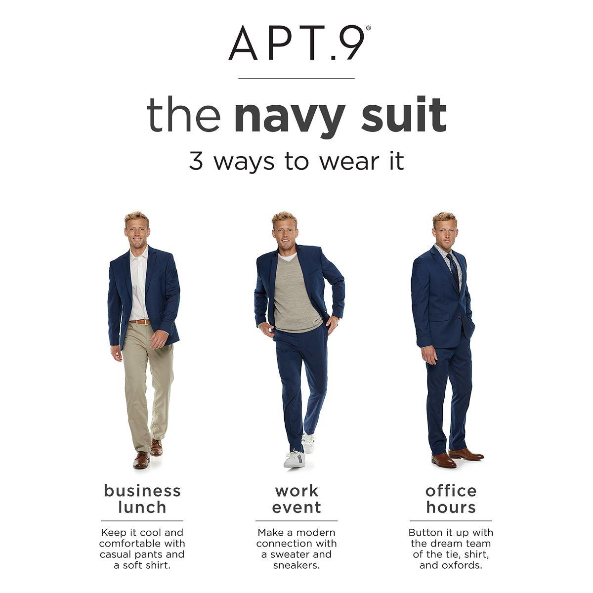 Men's Apt. 9® Slim-Fit Stretch Suit Separates vh68G