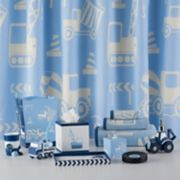 Kassatex Kids Construction Shower Curtain Collection