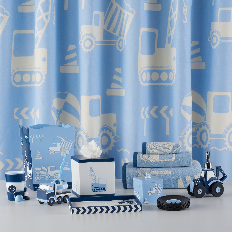 Kassatex Kids Construction Shower Curtain Collection