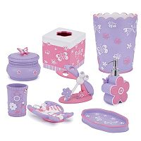 Kassatex Kids Butterfly Bath Accessories Collection