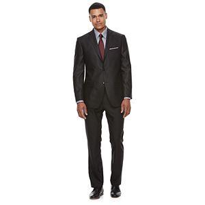 Men's Apt. 9® Premier Flex Herringbone Black Suit Separates