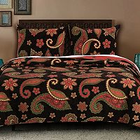 Midnight Paisley Quilt Collection