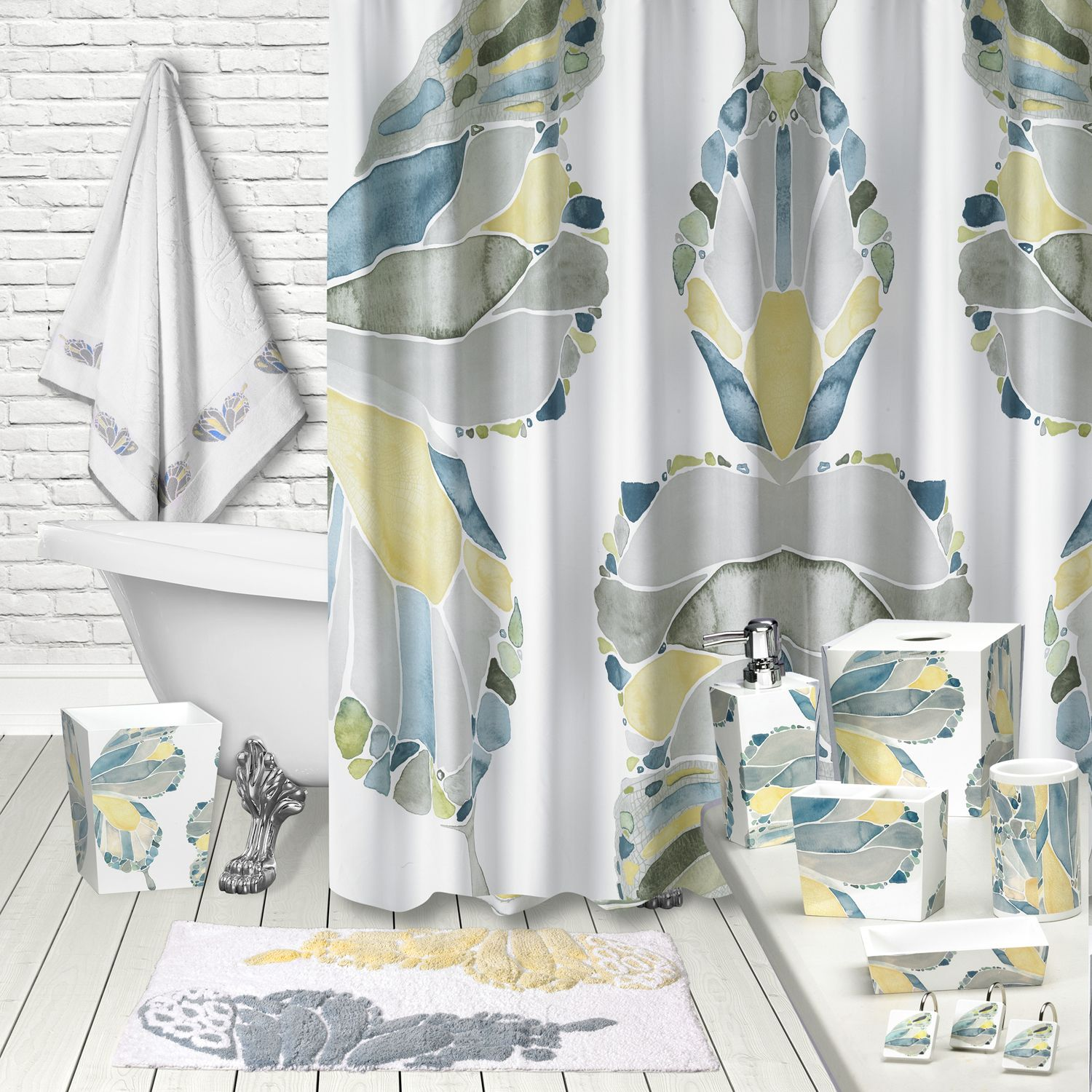 popular bath butterfly shower curtain collection