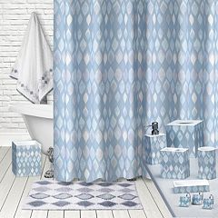 Popular Bath Sea Glass Shower Curtain Collection