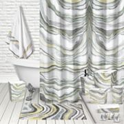 Popular Bath Sand Stone Shower Curtain Collection