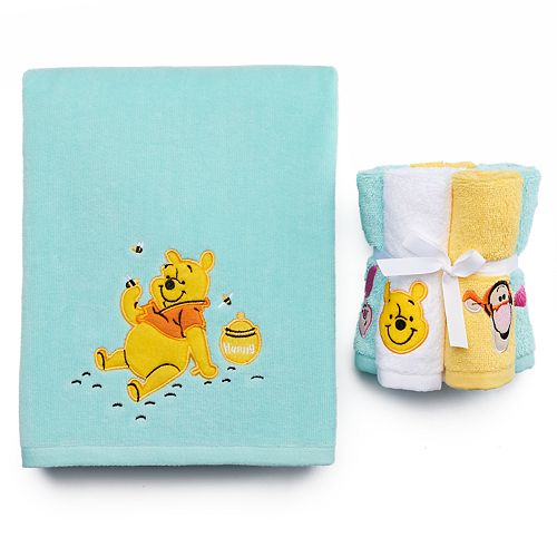 Disney  39 s Winnie the Pooh Bath Towel Collection by Jumping Beans. Winnie the Pooh Bath Towel Collection by Jumping Beans