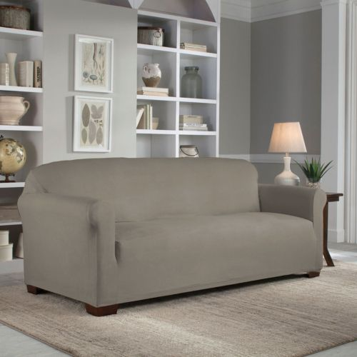 Serta Reversible Stretch Suede Slipcover Collection