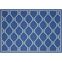 Waverly Sun N' Shade Rope Lattice Indoor Outdoor Rug Collection