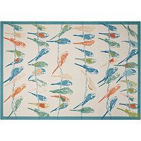 Waverly Sun N' Shade Retweet Bird Indoor Outdoor Rug Collection