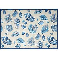Waverly Sun N' Shade Low Tide Shell Indoor Outdoor Rug Collection