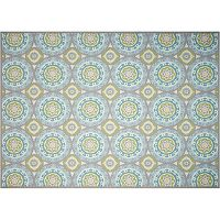 Waverly Sun N' Shade Solar Flare Medallion Indoor Outdoor Rug Collection