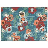 Waverly Sun N' Shade Pick A Poppy Floral Indoor Outdoor Rug Collection