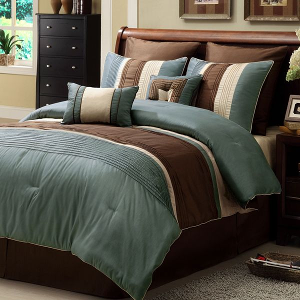 Bed Amp Bath For Sale Maxwell 8 Pc Striped Comforter Set