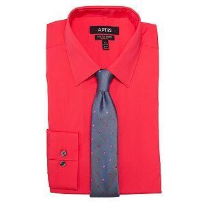 Men's Apt. 9 Dress Shirt & Tie Combination